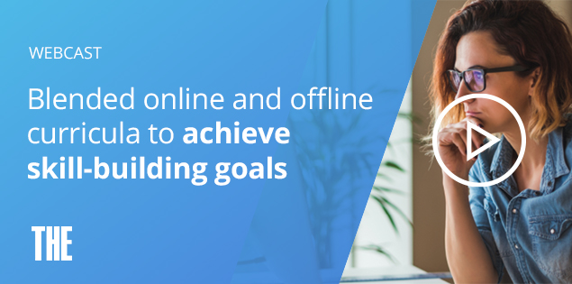 Blended online and offline curricula to achieve skill-building goals